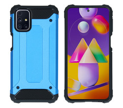 iMoshion iMoshion Rugged Xtreme Backcover Samsung Galaxy M31s - Lichtblauw (D)