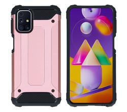 iMoshion iMoshion Rugged Xtreme Backcover Samsung Galaxy M31s - Rosé Goud (D)