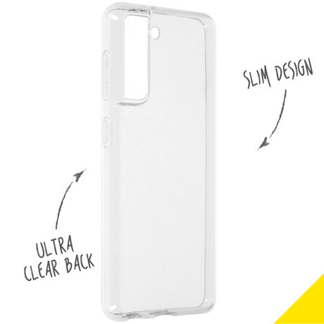 Accezz Clear Backcover Samsung Galaxy S21 - Transparant (D)