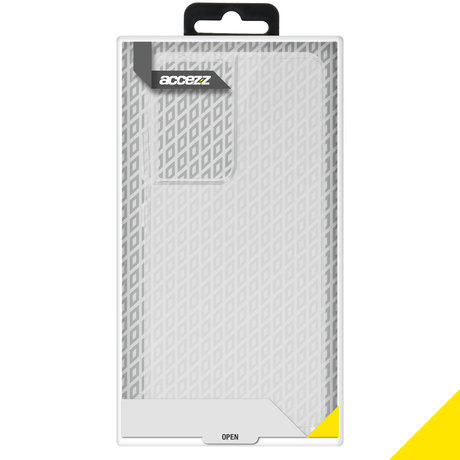 Accezz Clear Backcover Samsung Galaxy S21 Ultra - Transparant (D)