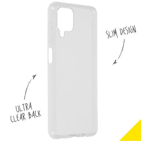 Accezz Clear Backcover Samsung Galaxy A12 - Transparant (D)