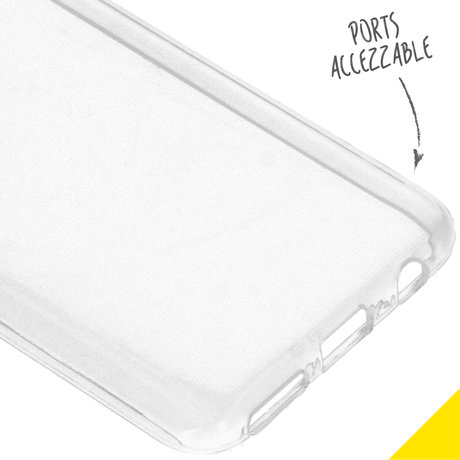 Accezz Clear Backcover Samsung Galaxy A40 - Transparant (D)