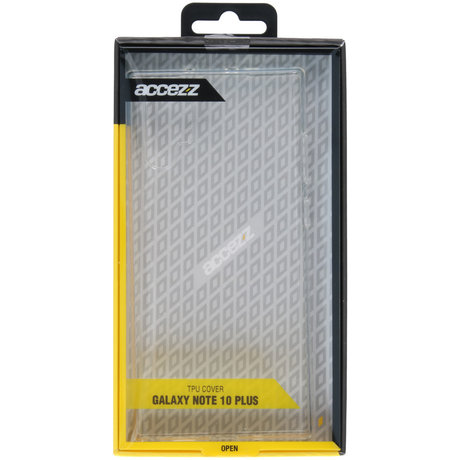 Accezz Clear Backcover Samsung Galaxy Note 10 Plus - Transparant (D)