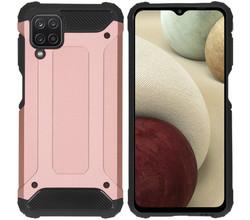 iMoshion iMoshion Rugged Xtreme Backcover Samsung Galaxy A12 - Rosé Goud (D)