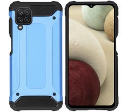 iMoshion iMoshion Rugged Xtreme Backcover Samsung Galaxy A12 - Lichtblauw (D)
