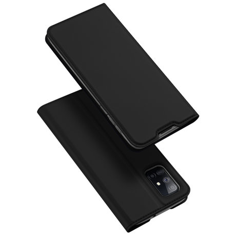 Dux Ducis Slim Softcase Booktype Samsung Galaxy M51 - Zwart (D)