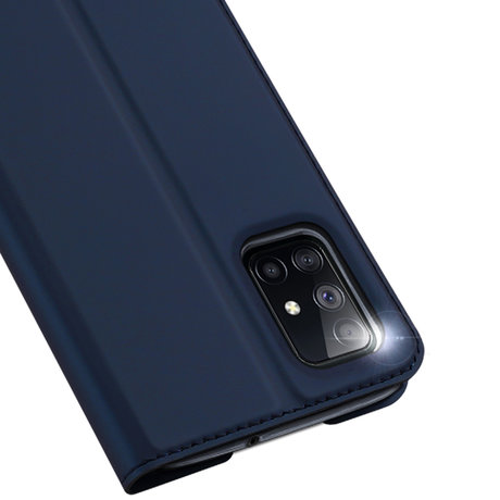 Dux Ducis Slim Softcase Booktype Samsung Galaxy M51 - Donkerblauw (D)