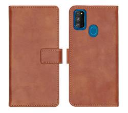 iMoshion iMoshion Luxe Booktype Samsung Galaxy M30s / M21 - Bruin (D)