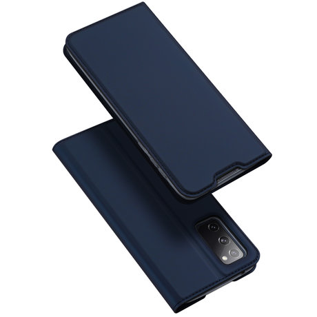 Dux Ducis Slim Softcase Booktype Samsung Galaxy S20 FE - Donkerblauw (D)