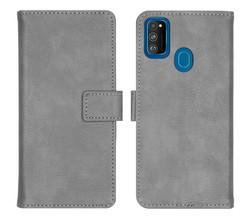 iMoshion iMoshion Luxe Booktype Samsung Galaxy M30s / M21 - Grijs (D)