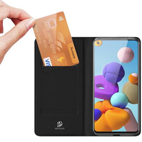 Dux Ducis Slim Softcase Booktype Samsung Galaxy A21s - Zwart (D)