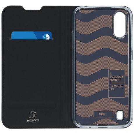 Dux Ducis Slim Softcase Booktype Samsung Galaxy A01 - Zwart (D)