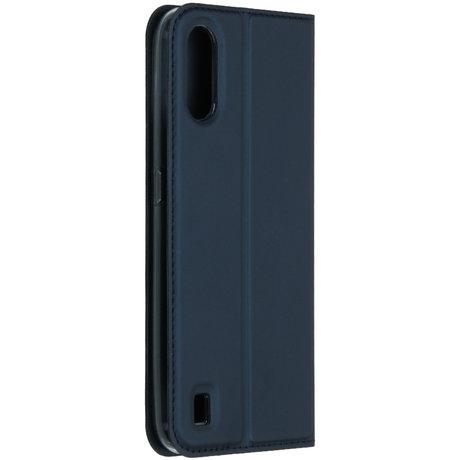 Dux Ducis Slim Softcase Booktype Samsung Galaxy A01 - Blauw (D)