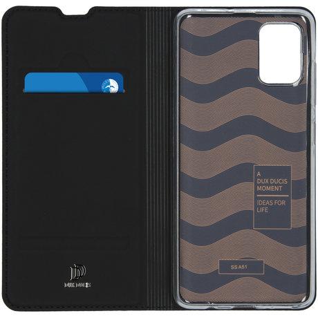 Dux Ducis Slim Softcase Booktype Samsung Galaxy A51 - Zwart (D)