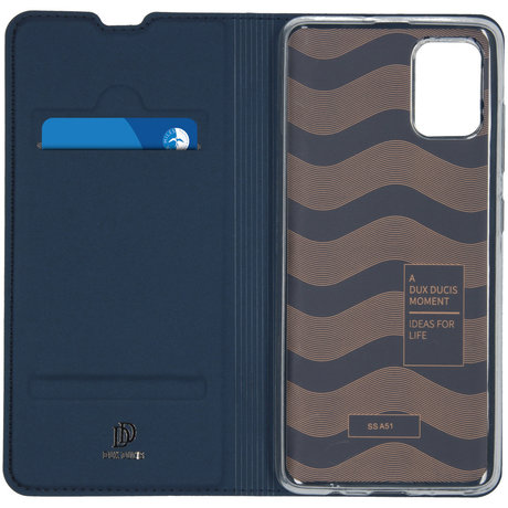Dux Ducis Slim Softcase Booktype Samsung Galaxy A51 - Donkerblauw (D)