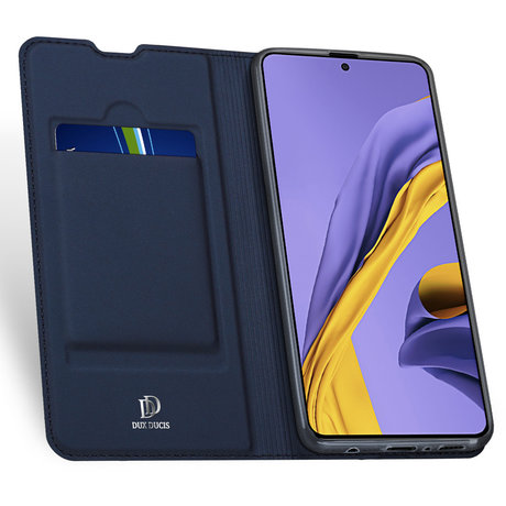 Dux Ducis Slim Softcase Booktype Samsung Galaxy A71 - Donkerblauw (D)