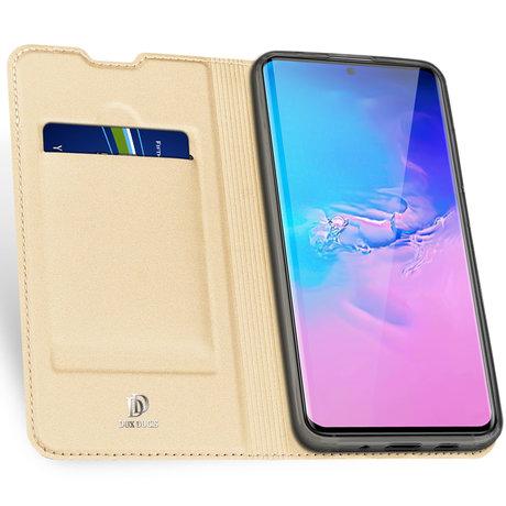 Dux Ducis Slim Softcase Booktype Samsung Galaxy S20 Ultra - Goud (D)
