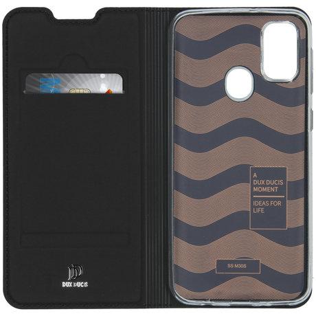 Dux Ducis Slim Softcase Booktype Samsung Galaxy M30s / M21 - Zwart (D)