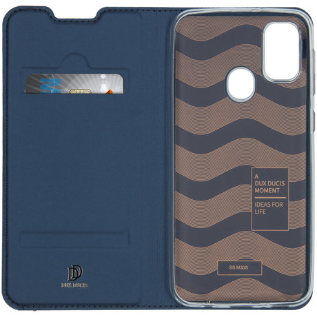 Dux Ducis Slim Softcase Booktype Galaxy M30s / M21 - Donkerblauw (D)