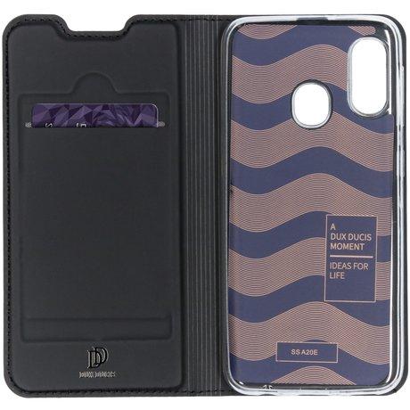 Dux Ducis Slim Softcase Booktype Samsung Galaxy A20e - Zwart (D)