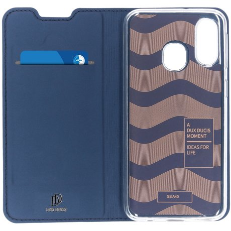 Dux Ducis Slim Softcase Booktype Samsung Galaxy A40 - Donkerblauw (D)