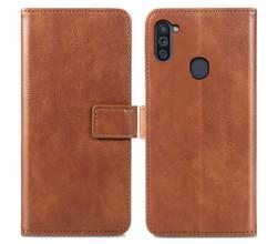 iMoshion iMoshion Luxe Booktype Samsung Galaxy M11 / A11 - Bruin (D)