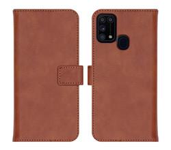 iMoshion iMoshion Luxe Booktype Samsung Galaxy M31 - Bruin (D)
