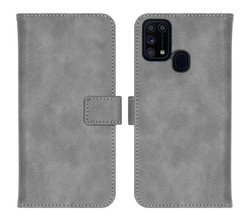 iMoshion iMoshion Luxe Booktype Samsung Galaxy M31 - Grijs (D)