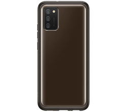 Samsung Samsung Silicone Clear Cover Galaxy A02s - Zwart (D)