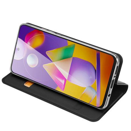 Dux Ducis Slim Softcase Booktype Samsung Galaxy M31s - Zwart (D)