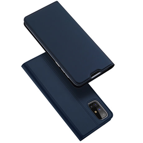 Dux Ducis Slim Softcase Booktype Samsung Galaxy M31s - Donkerblauw (D)