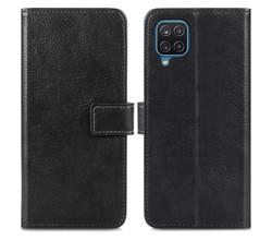 iMoshion iMoshion Luxe Booktype Samsung Galaxy A12 - Zwart (D)
