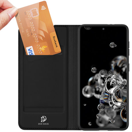 Dux Ducis Slim Softcase Booktype Samsung Galaxy S21 Plus - Zwart (D)