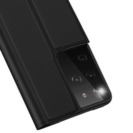 Dux Ducis Slim Softcase Booktype Samsung Galaxy S21 Ultra - Zwart (D)