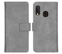 iMoshion iMoshion Luxe Lederen Booktype Samsung Galaxy A20e - Grijs (D)