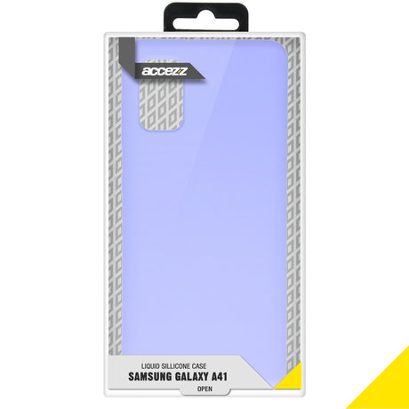 Accezz Liquid Silicone Backcover Samsung Galaxy A41 - Paars (D)
