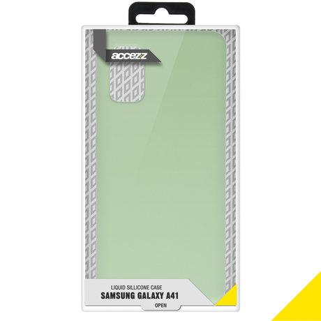 Accezz Liquid Silicone Backcover Samsung Galaxy A41 - Groen (D)