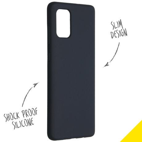 Accezz Liquid Silicone Backcover Samsung Galaxy A71 - Blauw (D)