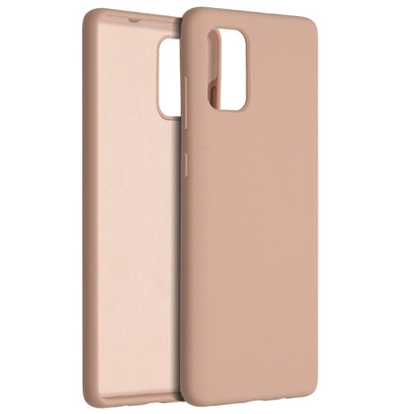 Accezz Liquid Silicone Backcover Samsung Galaxy A71 - Roze (D)