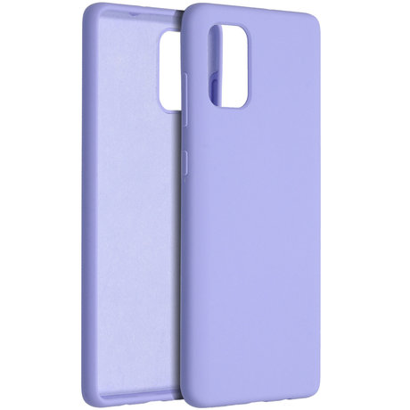 Accezz Liquid Silicone Backcover Samsung Galaxy A71 - Paars (D)