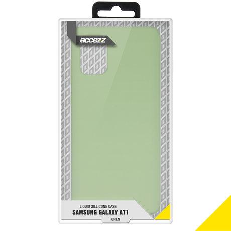 Accezz Liquid Silicone Backcover Samsung Galaxy A71 - Groen (D)