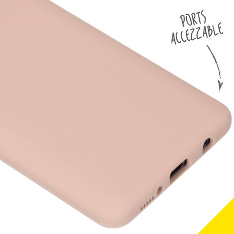 Accezz Liquid Silicone Backcover Samsung Galaxy A51 - Roze (D)