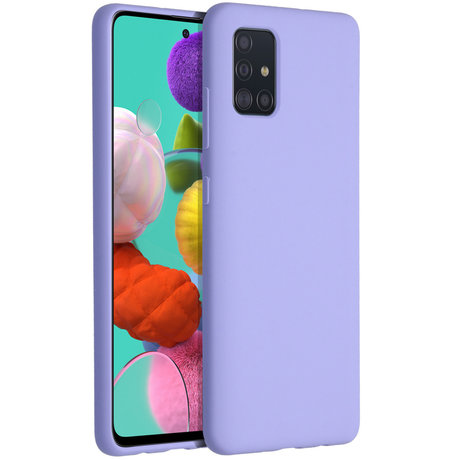 Accezz Liquid Silicone Backcover Samsung Galaxy A51 - Paars (D)