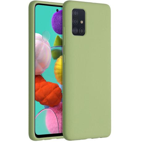 Accezz Liquid Silicone Backcover Samsung Galaxy A51 - Groen (D)