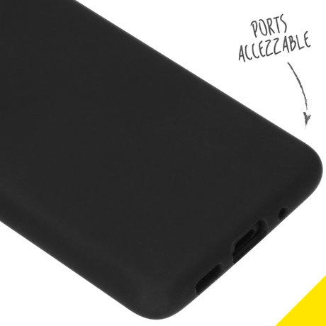 Accezz Liquid Silicone Backcover Samsung Galaxy S20 Plus - Zwart (D)