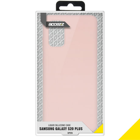 Accezz Liquid Silicone Backcover Samsung Galaxy S20 Plus - Roze (D)