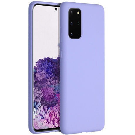 Accezz Liquid Silicone Backcover Samsung Galaxy S20 Plus - Paars (D)