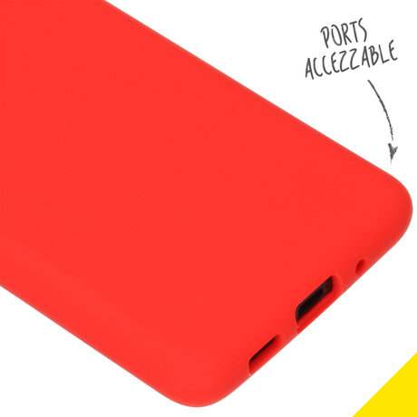 Accezz Liquid Silicone Backcover Samsung Galaxy S20 Plus - Rood (D)