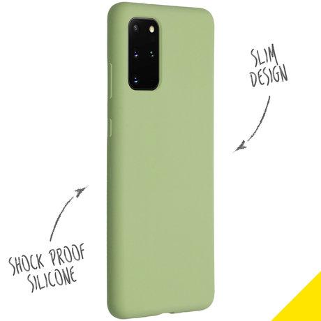 Accezz Liquid Silicone Backcover Samsung Galaxy S20 Plus - Groen (D)