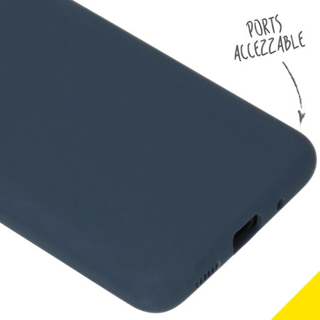Accezz Liquid Silicone Backcover Samsung Galaxy S20 - Blauw (D)